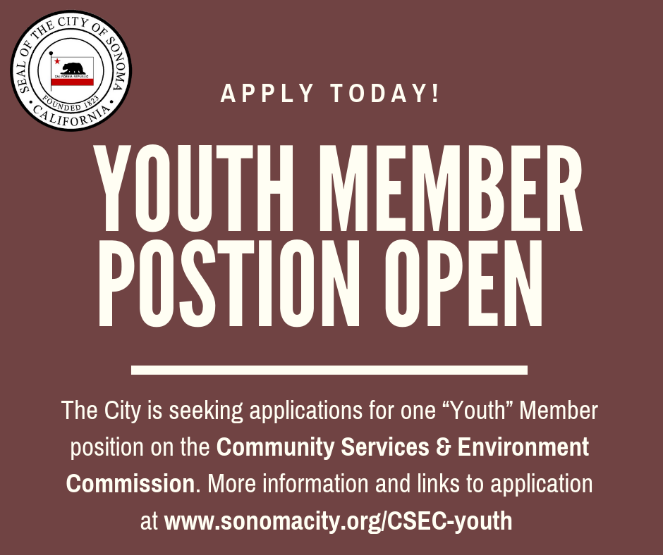 Youth Member Position Open