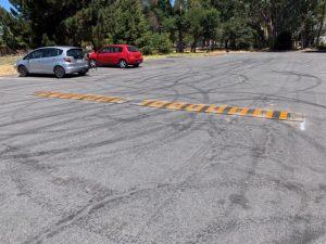 New Speed Bump in Casa Grande Parking Lot