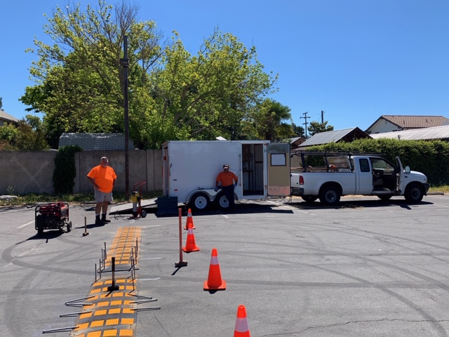 New Speed Bump at Casa Grande Parking Lot