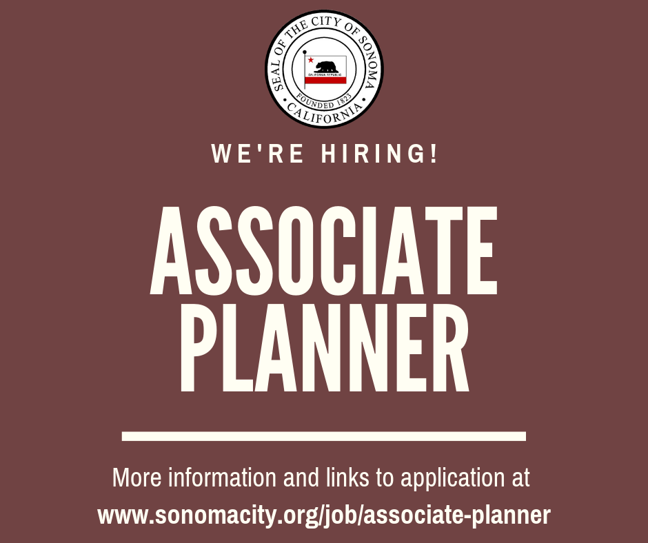 Now Accepting Applications for an Associate Planner