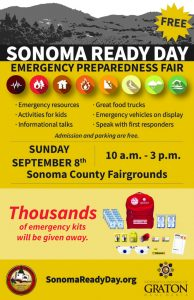 Sonoma Ready Day, Sept 8th