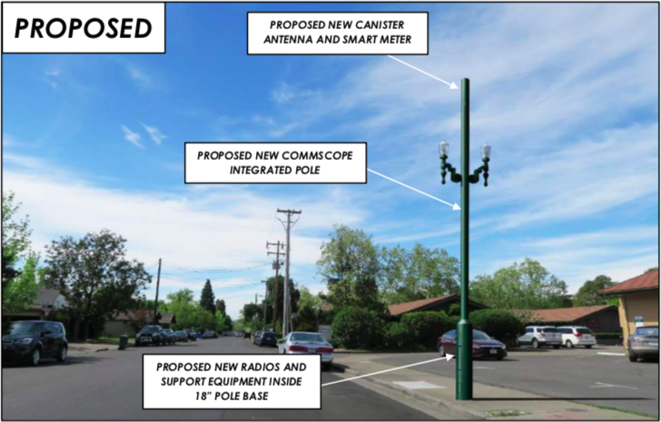 Rendering of Proposed Verizon Wireless Small Cell
