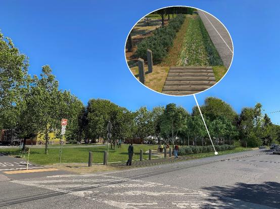 Depot Park First Street West Improvement Project After
