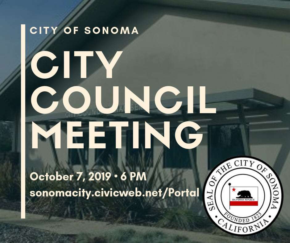 City Council Meeting October 7th, 6pm