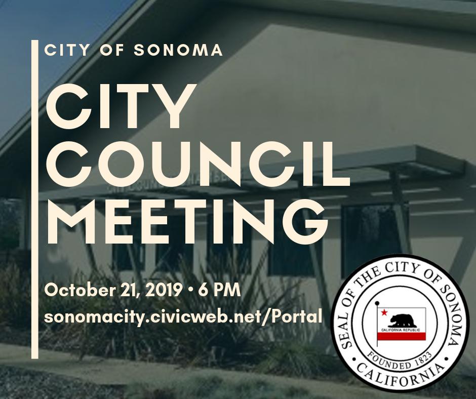 City Council Meeting, October 21, 2019