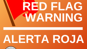 Red flag warning / Alerta Roja