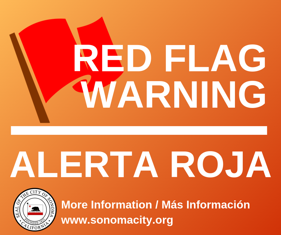 Red flag warning / Alerta Roja