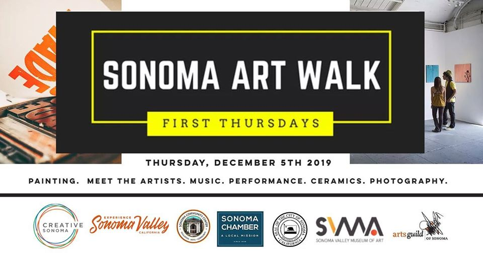 Sonoma Art Walk, First Thursdays, December 5th