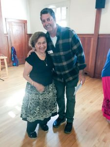Betty Ann Bruno with Commissioner Steve Hagstrom
