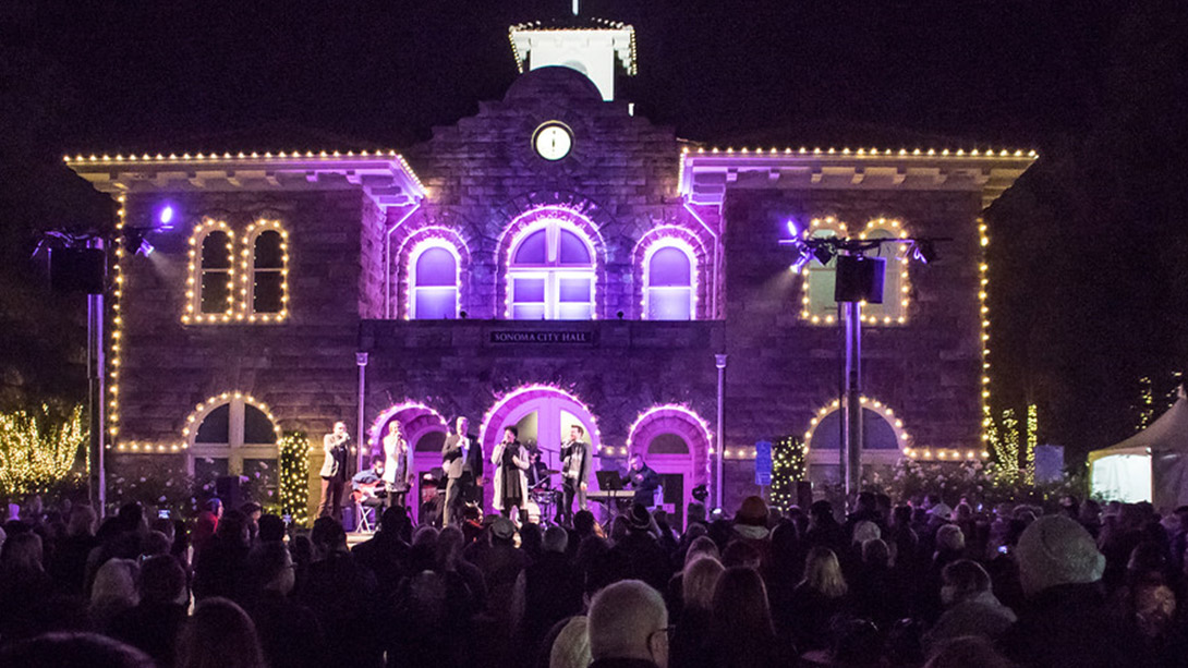 The Lighting of Sonoma Plaza