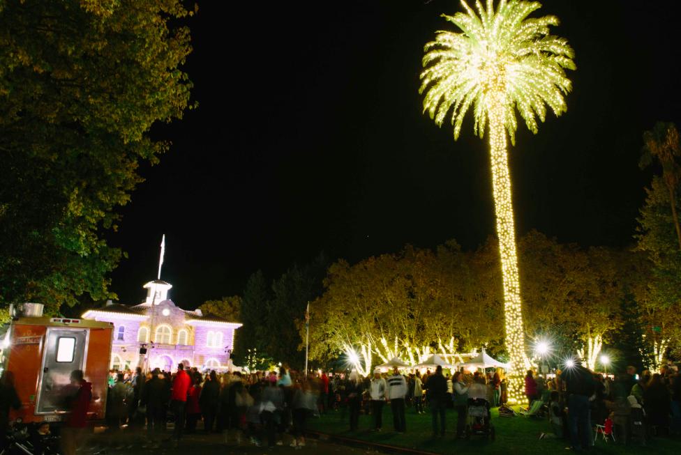 Lighting of the Sonoma Plaza
