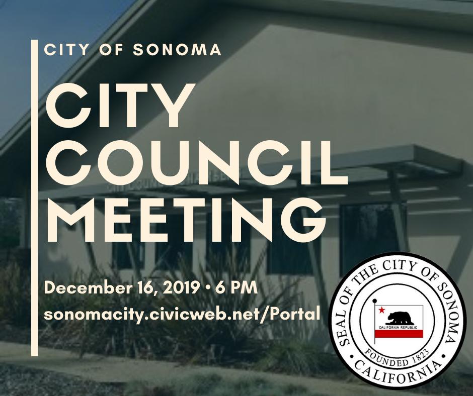 City Council Meeting 12.16.19 at 6pm