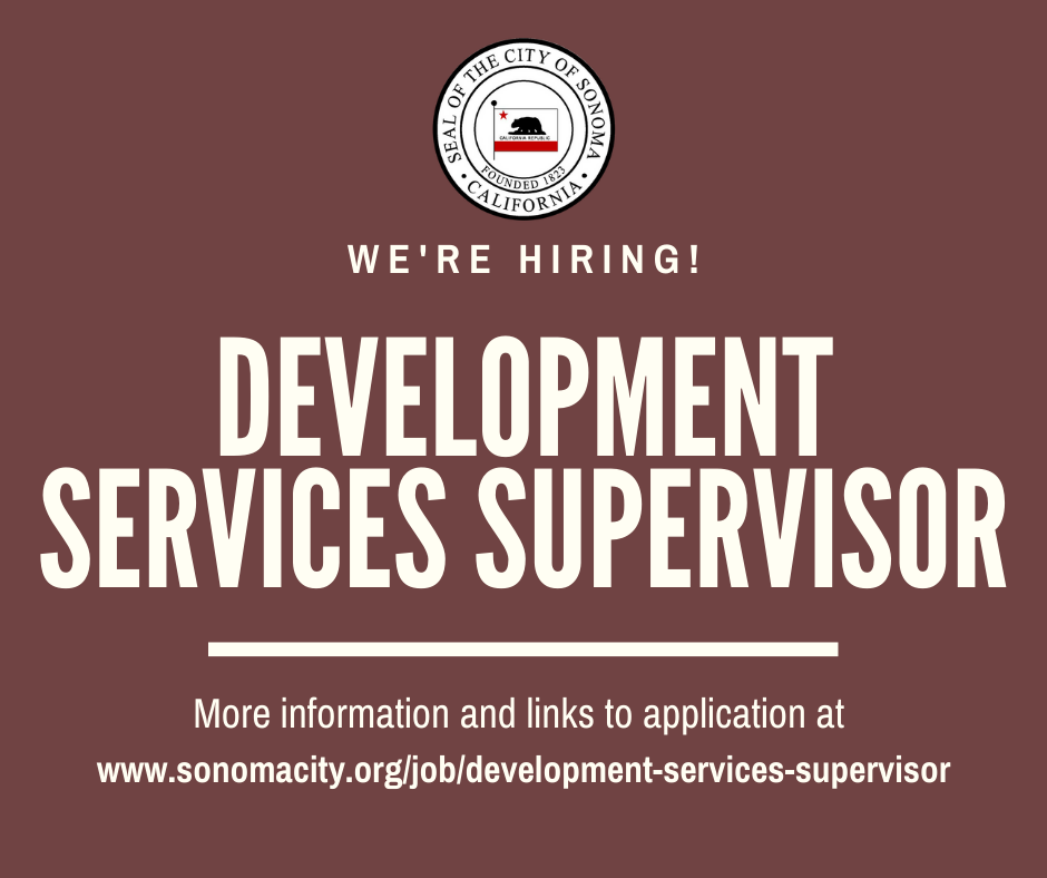 Now Hiring, Development Services Supervisor