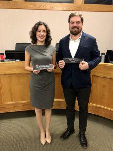 New Mayor Logan Harvey (right) and New Vice Mayor Rachel Hundley (left)
