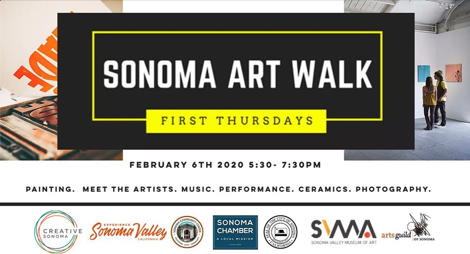 Sonoma Art Walk, February 6th