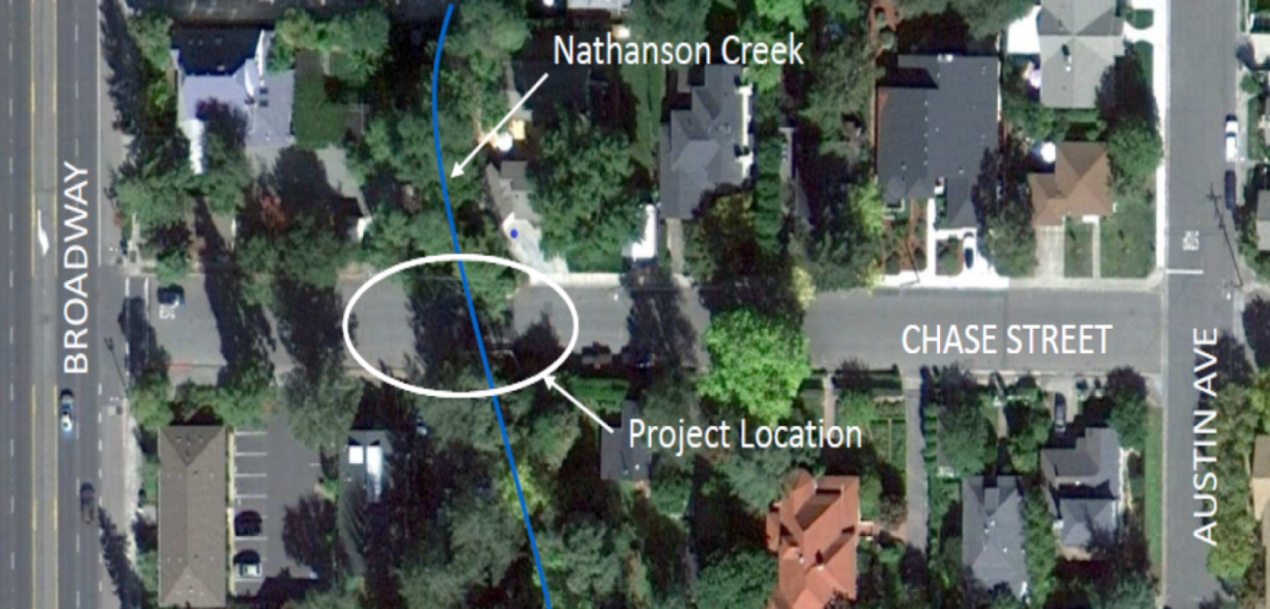 Chase Street Bridge Location