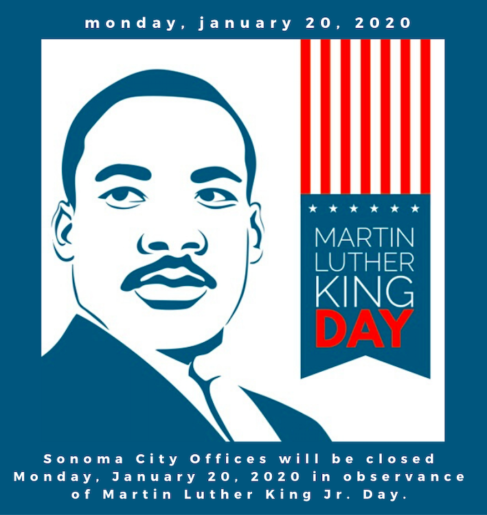 MLK Day, January 20th, 2020