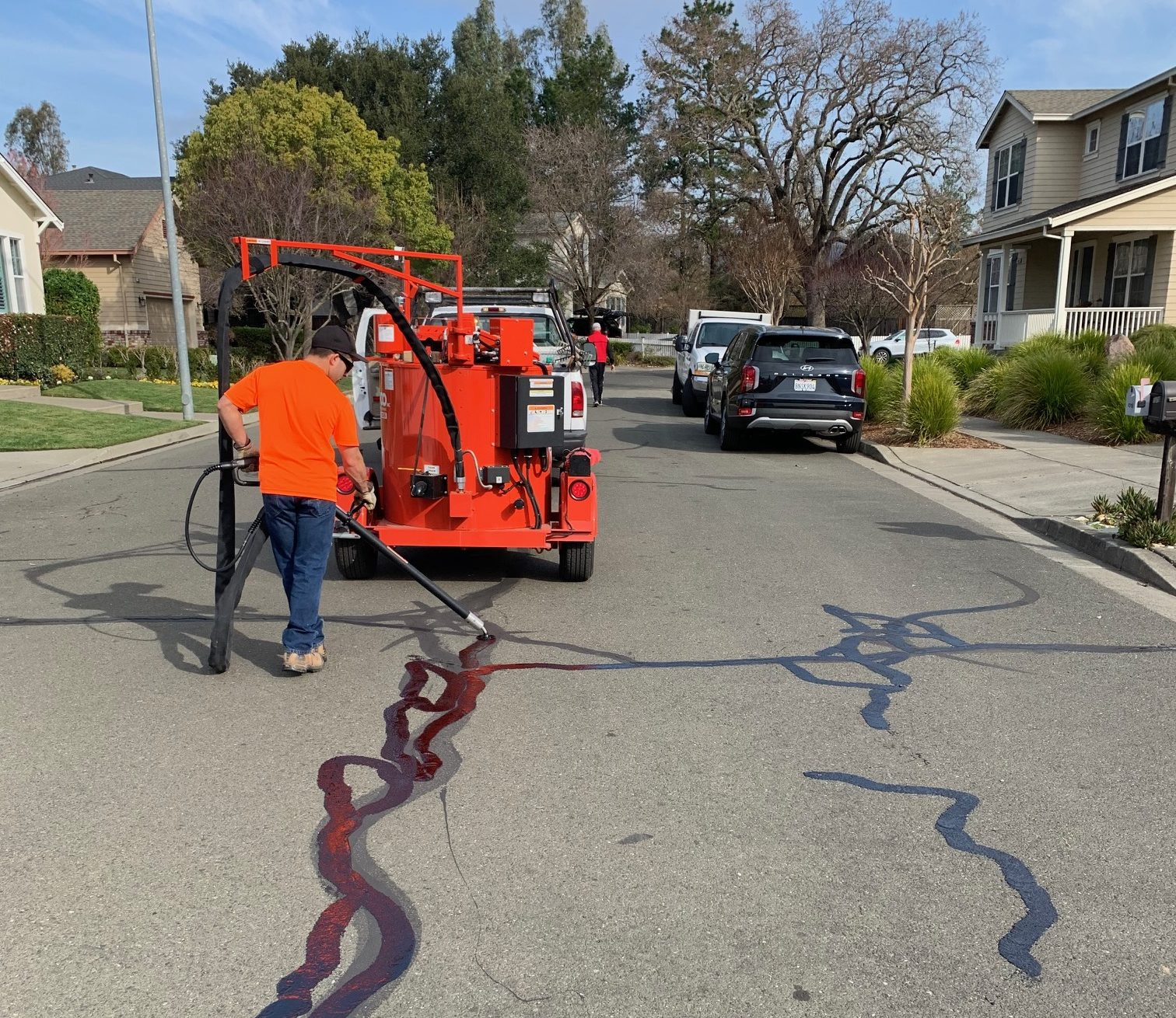 Crack Sealing in the City of Sonoma