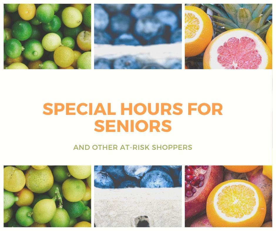 Special Hours for Seniors