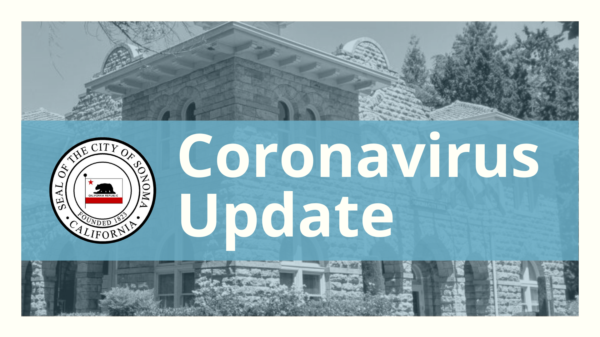 City of Sonoma Coronavirus Update