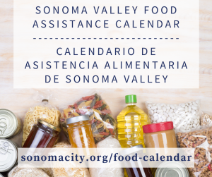 Sonoma Valley Food Assistance Calendar