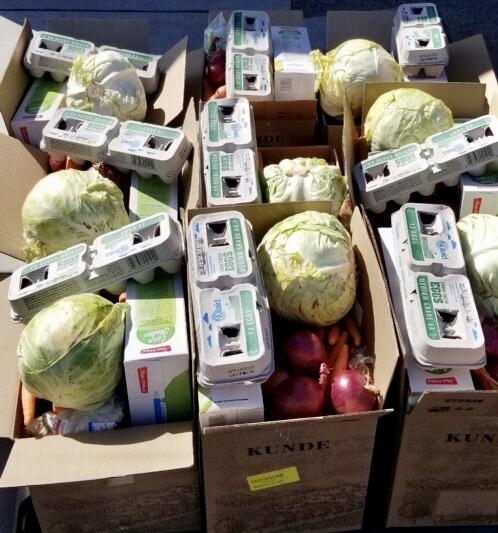 Food Distribution at Flower Elementary School