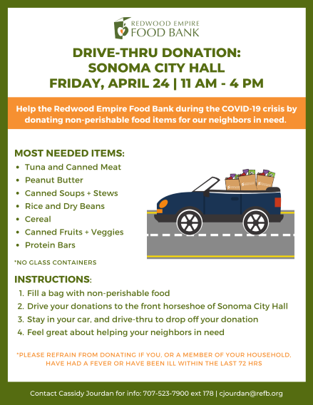 Sonoma Valley Food Drive Flyer