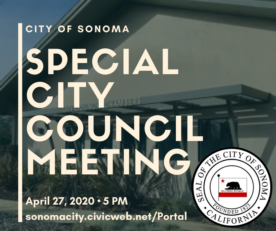 Special City Council Meeting 4/27/2020