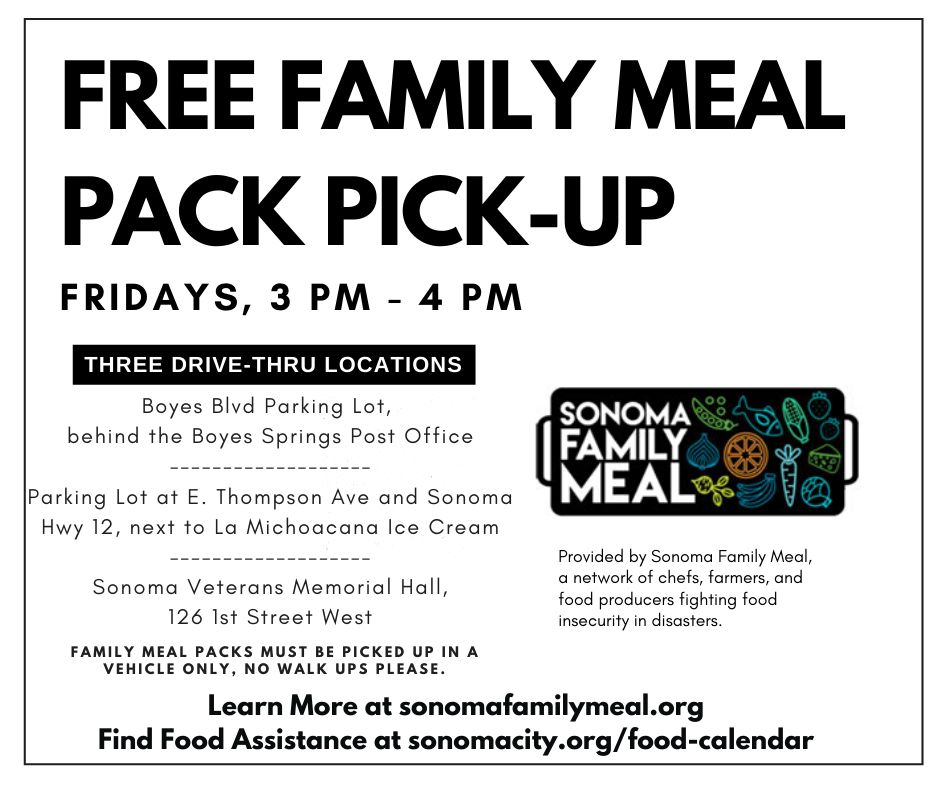 Free Family Meal Pack Pick-Up