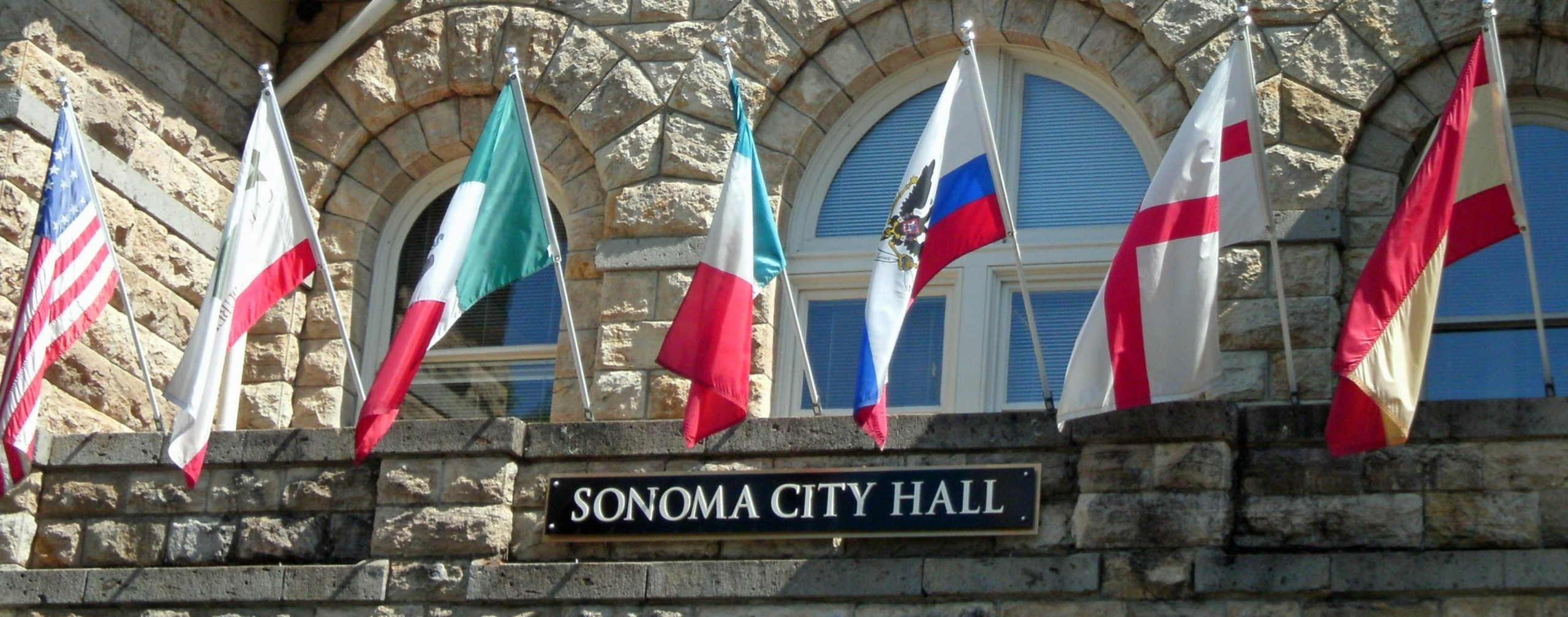 City Hall flags