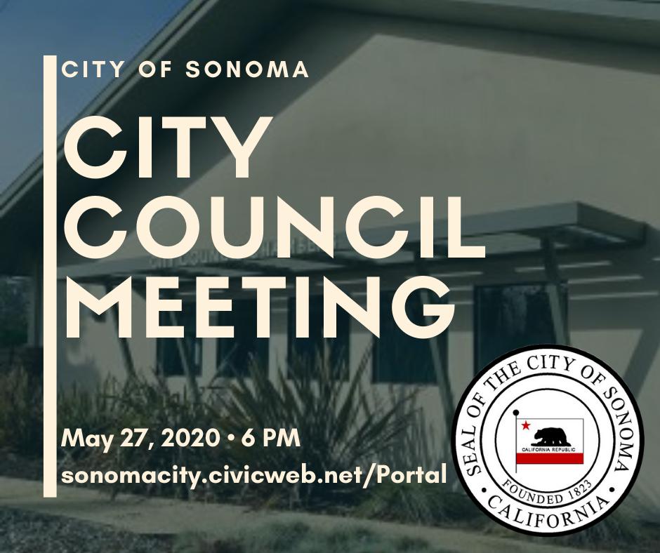 City Council Meeting, May 27th, 6pm