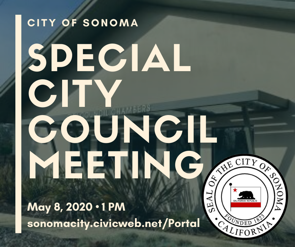 Special City Council Meeting May 8th