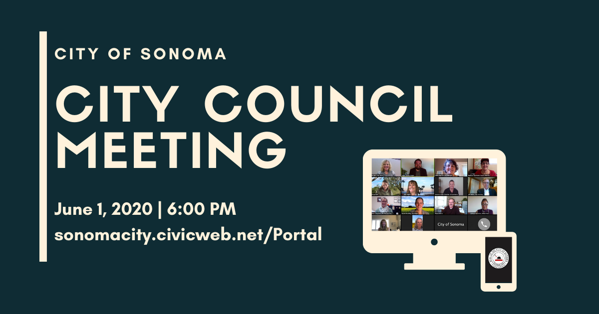 City Council Meeting, June 1, 2020, 6pm