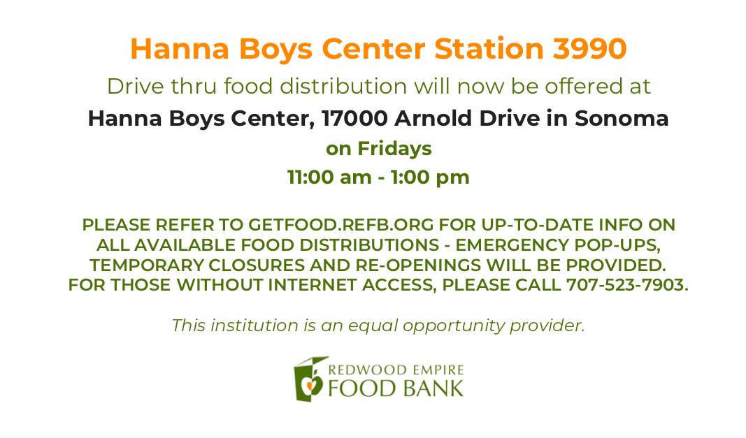 Food Distribution at Hanna Boys Center Fridays 11am-1pm