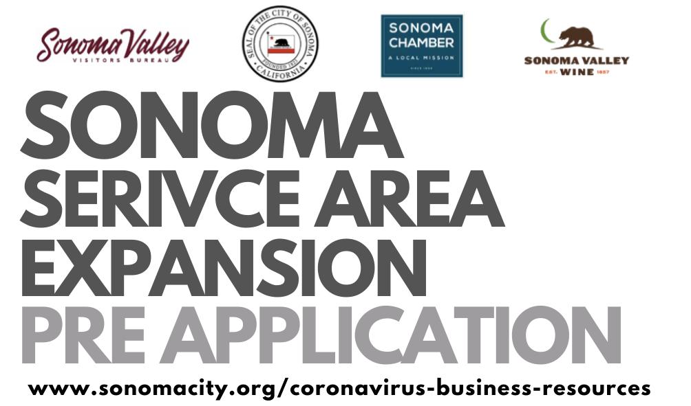 sonoma service area expansion pre application