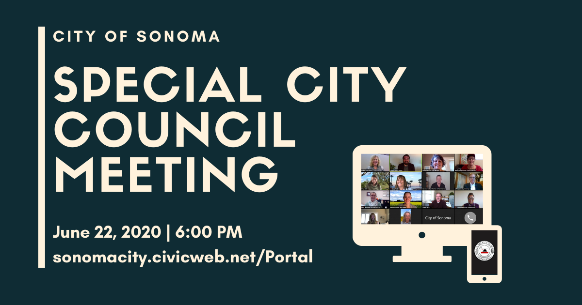 Special City Council Meeting June 22, 2020