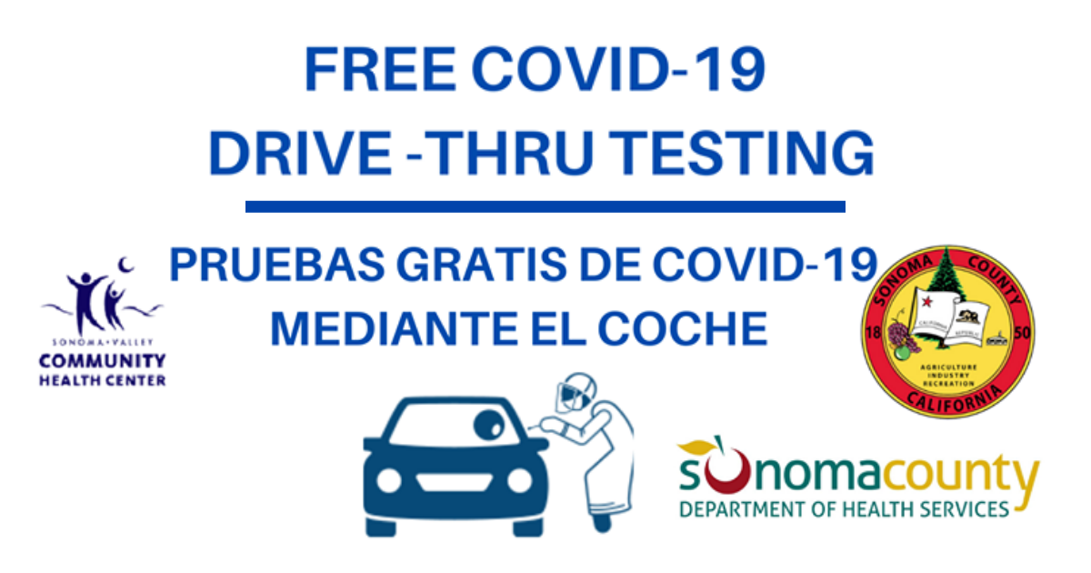 Free Covid-19 testing in Sonoma Valley