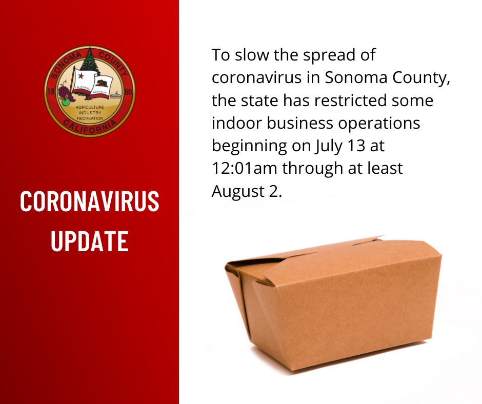 Coronavirus Update from the County of Sonoma