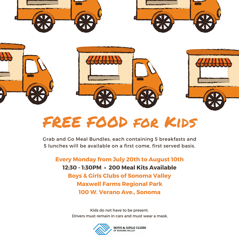 Free Food for Kids at Boys & Girls Club