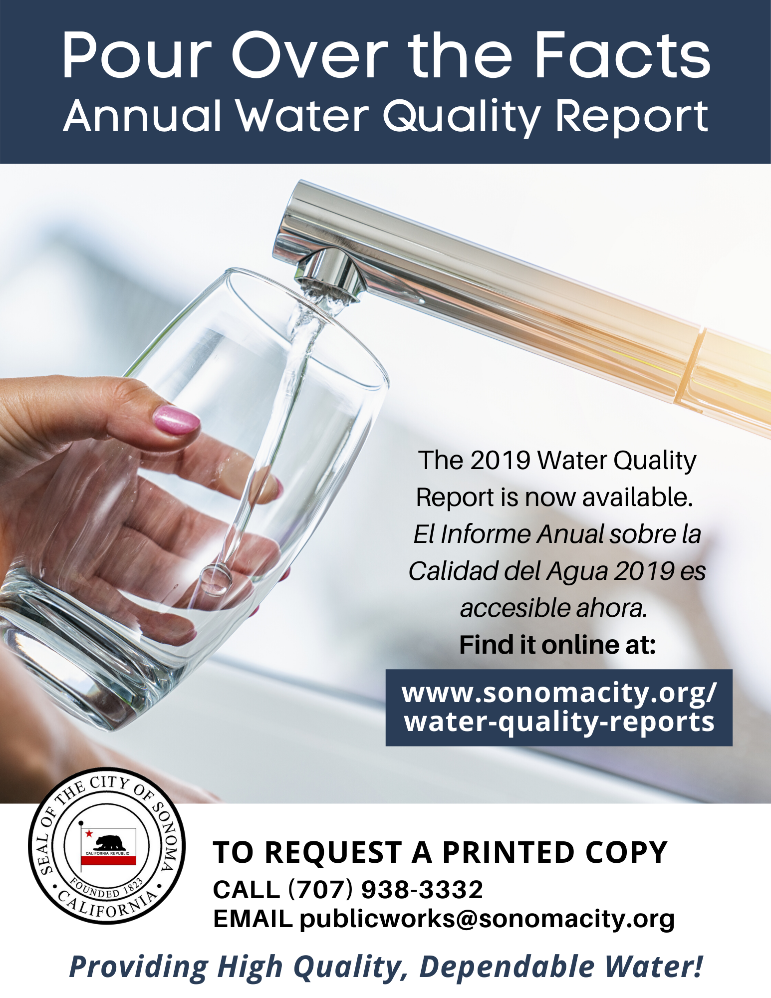 Pour Over the Facts, 2019 Water Quality Report