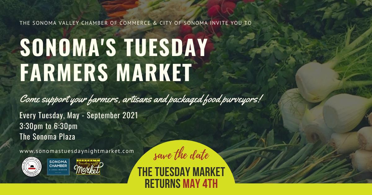 Sonoma's Farmers Market Returns May 4th