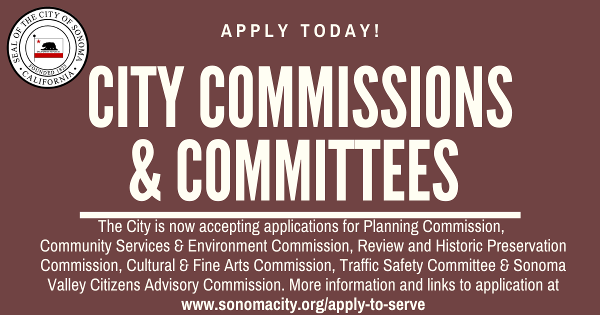 Apply Today for City Commissions & Committees