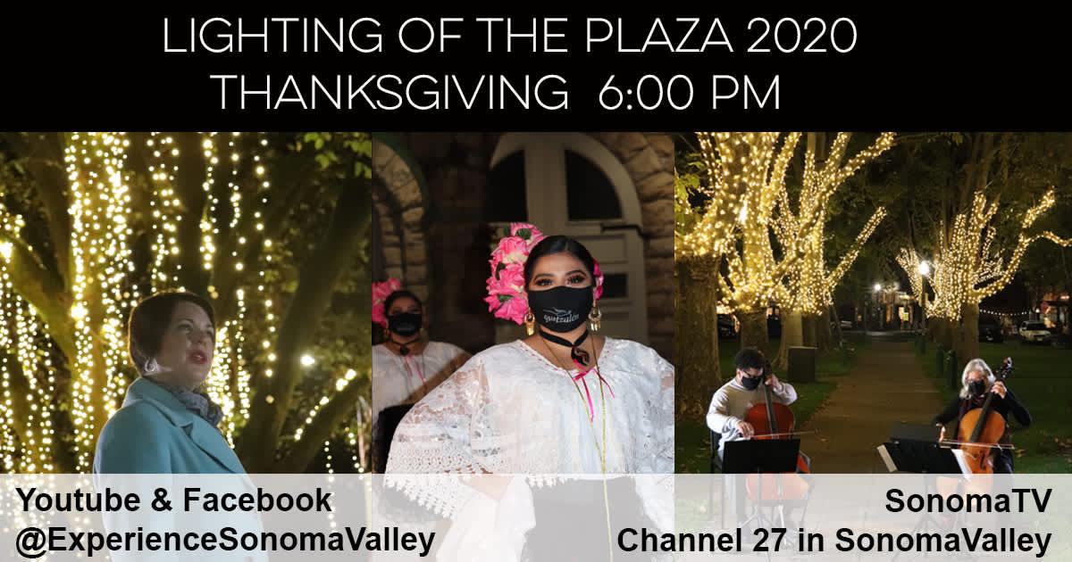 Lighting of the Sonoma Plaza 2020