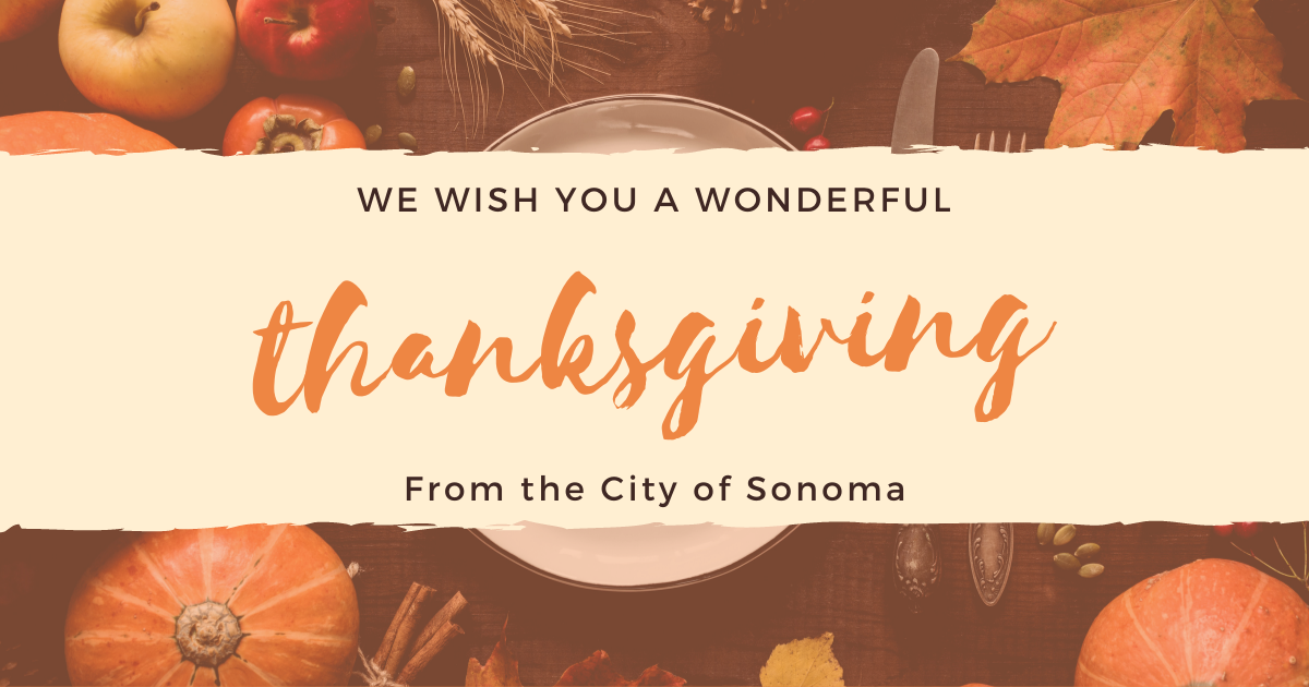 We wish you a wonderful Thanksgiving
