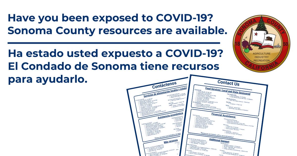 Sonoma County COVID-19 Resources