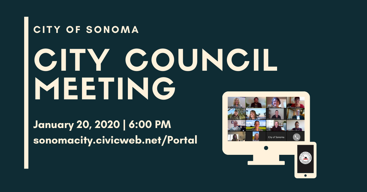 City Council Meeting, January 20th, 6:00PM