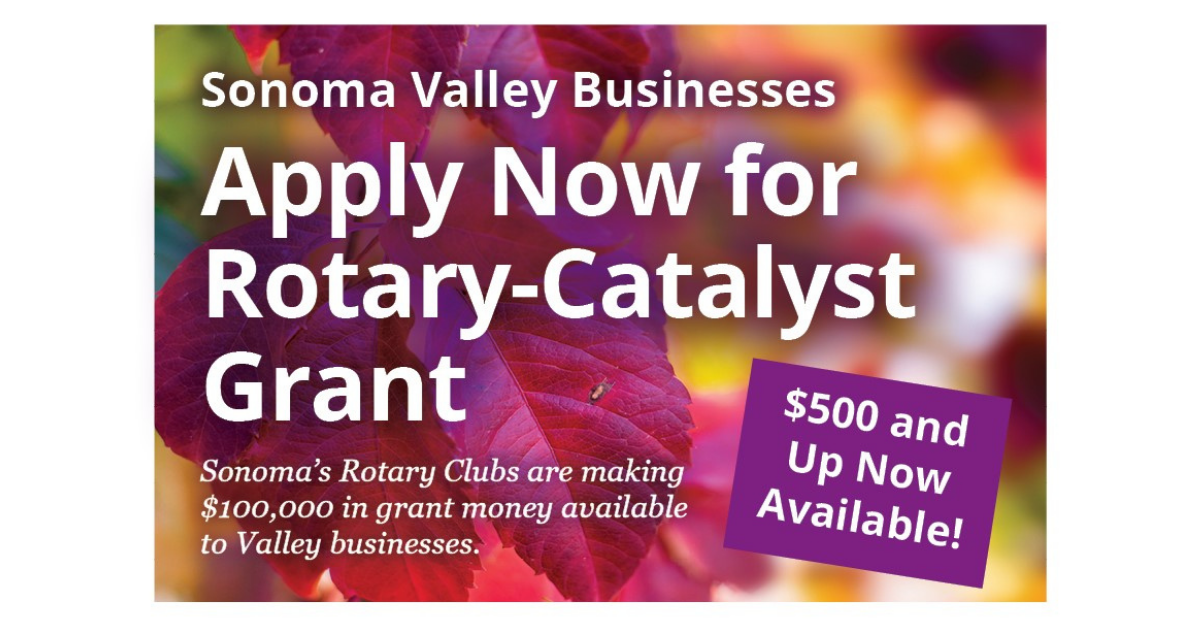Sonoma Rotary Clubs Grants or Small Businesses