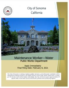 Maintenance Worker, Water, Brochure
