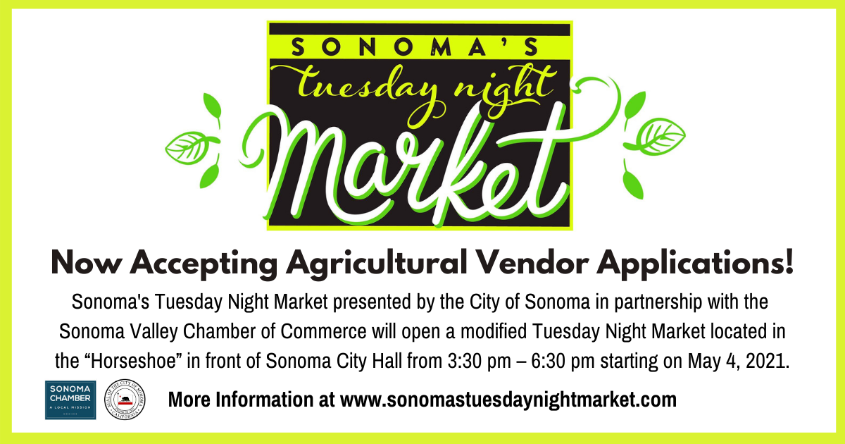 Sonoma's Tuesday Night Market Vendor Applications Now Available