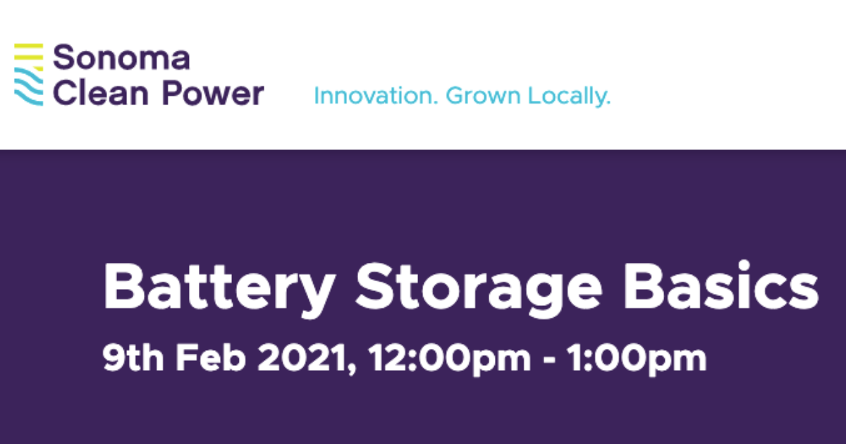 Battery Storage Basics